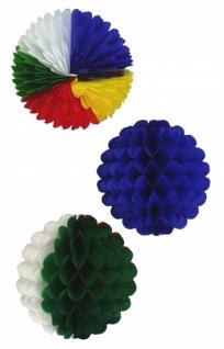 7166 Waben Ball, ca. 24cm Durchmesser, einfarbig oder bunt, flammenr