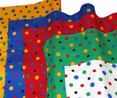 14739 Baumwollstoff, 80cm breit in weiß, rot, blau und grün mi
