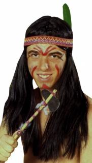 """Perücke 4116 Perücke, """" Indianer, langes Haar, mit Stirnb"""