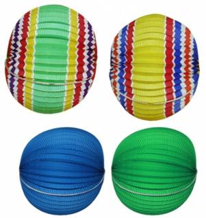 7291 Bunte Ballon Laterne, 27x31cm Ø...