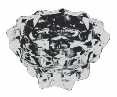 7006 Glas Kerzenleuchter, mit Wachsauffang, 9 cm Durchmesser, 5 cm h