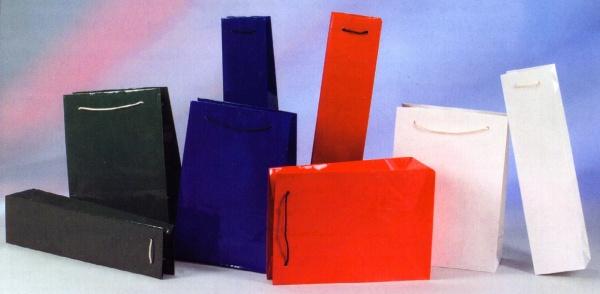 7581 1 Breite Lacktüte, 20x28x10cm in rot, blau und grün erhältlich, - Vorschau