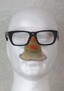 """29571 Gummi Nase mit """" Kassengestell"""" Brille (Hornbrille), A = lange Nase"""
