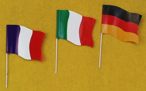 """7383 Glanzpapier Fähnchen """" Frankreich"""", ca. 16x11cm groß, - Vorschau"""