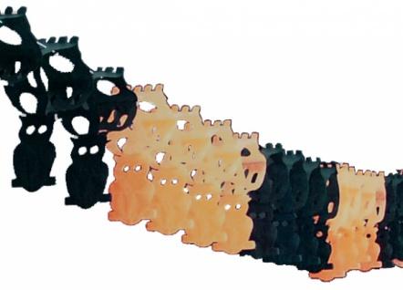 0293 Eulen Girlande, ca. 3, 65m lang, ca. 10x33cm groß, schwarz/ora
