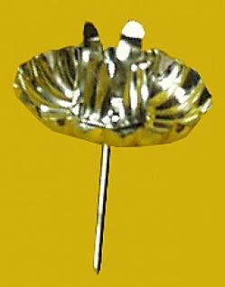 8140 Tüte mit 4 silbernen Adventskerzenhalter, mit Stift zum fixiere