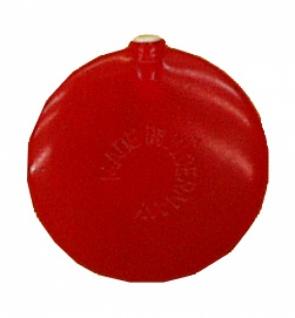 """8475 """" Flachstimme"""" mit 55mm Ø in rot, quitscht beim"""