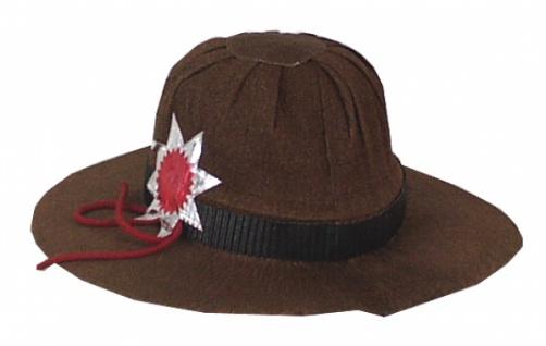 1679 Ranger Hut aus Krepp, mit Band, Kordel, Stern... - Vorschau
