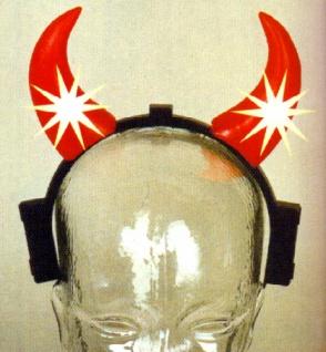 1350 Haarreif mit roten blinkenden Teufelshörnern, 20x20cm groß, für Batteriebetrieb (benötigt wer