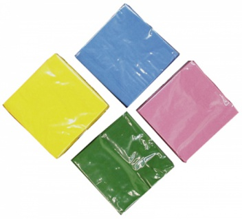 75400 Einfarbige Zelltuch Servietten, in rot, bordeaux, gelb, blau - Vorschau