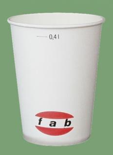 751403 50 Stück Trinkbecher aus Pappe für 0, 4l Getränke, weiß