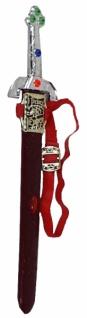 64780 Prinz Eisenherz Schwert aus Plastik, 50 cm lang, silbern verzi