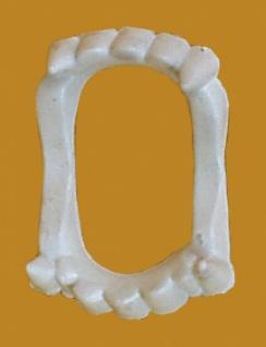 0105 Dracula Gebiß mit Reißzähnen, aus Plastik, für Kinder...
