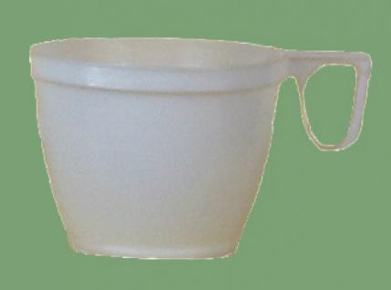751832 10 stück Kaffeetassen aus Plastik, für 0, 18 l Kaffee, weiß