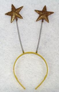 13475 Haarreif mit Fühlern, 29cm hoch, lieferbar mit goldenen Sternen oder roten Herzen...