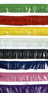 13974 Seidenfransen, 150mm breit, 12, 5 Meter, in schwarz