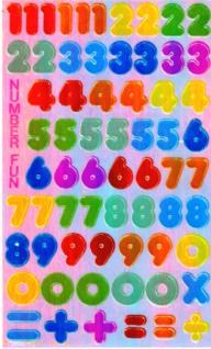5695 Blatt mit bunten Ziffern, Perlmutt, selbstklebend, 100 x 165 mm