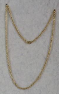 1283 Ordenskette mit kleinen Gliedern (3mm breit), in gold und silberfarben, 31cm lang...