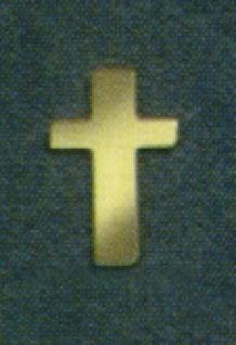 7636 Streuartikel: goldene Kreuze, 13mm hoch, 5g Beutel...