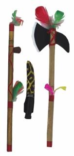 6420 Indianer Werkzeug Set: Beil, Pfeife und Messer... - Vorschau