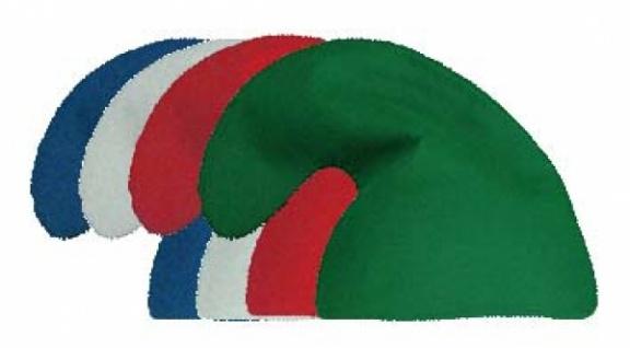 2058 Schlumpf Mütze, in weiß, blau, rot und grün...