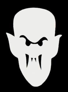 56371 Filz Dracula, 16, 5x12 cm groß, weiß, selbstklebend...