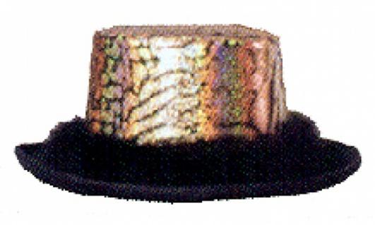 Hut aus Filz 19508 Fantasy Zylinder Hut für Herren, schwarzer Kopf m