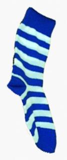 5957 Helanca Ringel Socken in blau weiß und rot weiß, Einheitsgröße