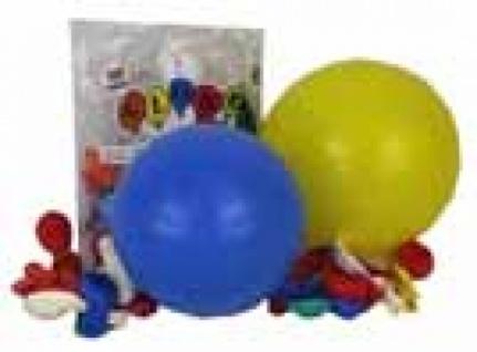 7045 100 Runde Ballons, bunt sortiert, 65 70 cm Umfang, 22 cm Durchmesser...