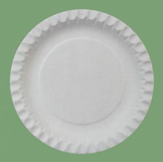 75053 100 Stück Kleine flache runde Pappteller, 18cm Ø