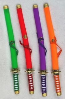 64770 Ninja Schwert aus Plastik, ca. 62 cm lang, mit Ver - Vorschau