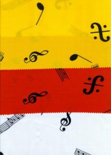 14764 Polyester Satin mit Musiknoten Aufdruck, bei 3