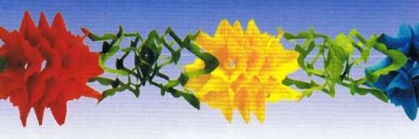 72856 Blumen Girlande, 10m lang, 25cm hoch, flammensicher... - Vorschau