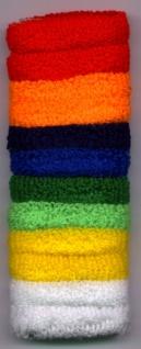 1313 1 Packung mit 12 einfarbigen, kurzen Haarbändern aus Frottee, ca. 3.5cm breit, in der Packung