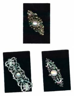 1292 Nostalgie Brosche aus Metall, 56mm lang, in verschiedenen Ausführungen, in gold und Altsilbe