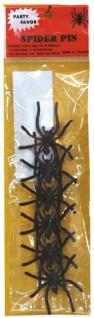 0222 6 kleine schwarze Spinnen aus plastik zum Dekorieren, ca 4, 5cm groß...