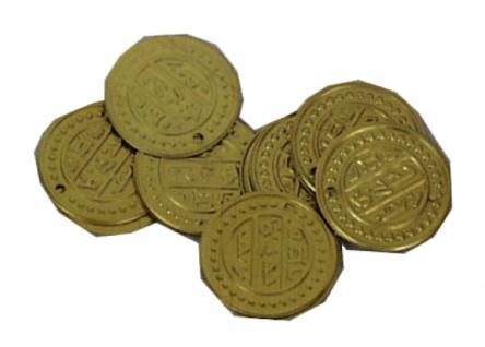 1391 Münzen aus Messing, 21mm Ø, im 100 Stück Beute