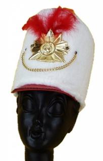 20391 Majorette, hohe Mütze aus Fellimitat, mit Orden, Kette und Stu