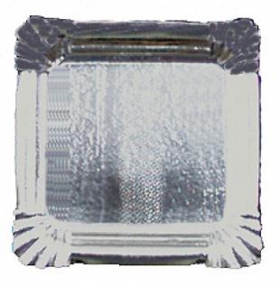 75661 Aschenbecher aus Pappe, mit Silberfolie, 125x125mm groß, 100 Stück...