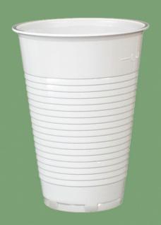 751400 50 Stück Plastikbecher für 0, 4l Getränke, weiß Lizen