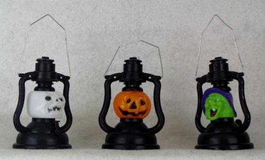 0031 Halloween Lampe mit Geistermusik in 3 verschiedenen Ausführungen (Totenkopf, Kurbis