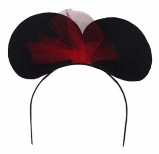 Hut aus Filz 19931 Minni Maus Haarreif, in schwarz, mit roter Schlei