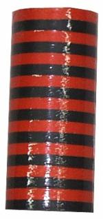 0361 9 Riesen Deko Luftschlangen, schwarz/orange für Halloween, 15 m lang, 14 mm breit, schwer