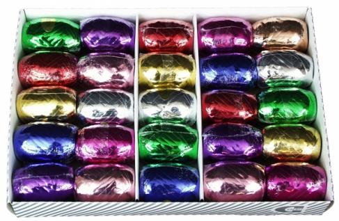 7618 20m Rolle Kräuselband, 5mm breit, in Metallicfarben: