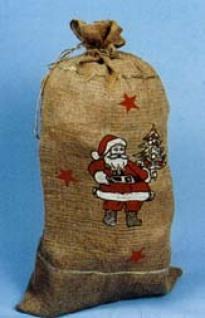 81001 Nikolaussack aus Jute, bedruckt mit Weihnachtsmotiven, 86 - Vorschau