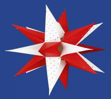 821920 Weihnachtsstern aus Pappe, 18 strahlig, für Beleuchtung bis 2