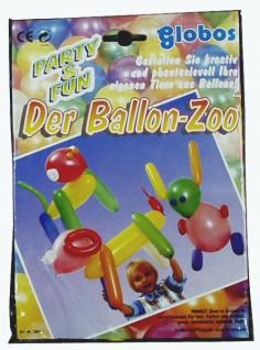 70591 Ballon Zoo: diverse Ballons in verschiedenen Formen, Farben und Größen, sowie Klebepads zu