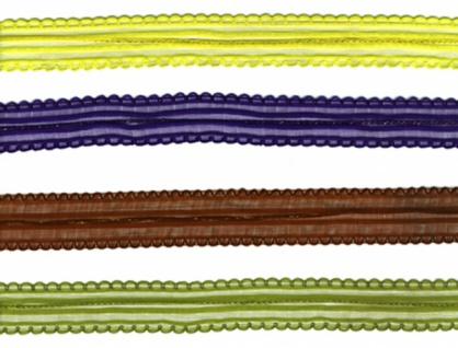 8158 Ziehband (Ziehschleife), in grau, orange, aprikot, gelb, lila,