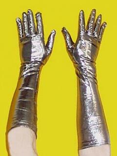 5874 Damenhandschuhe in gold oder silber,
