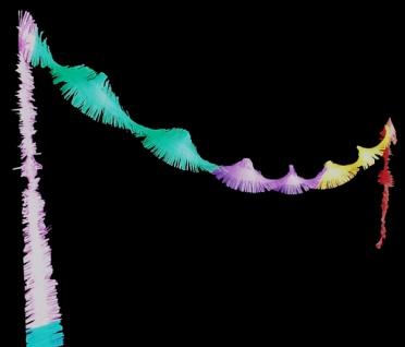 72700 Sechsfarbige Fransen Girlande aus Krepppapier, 5m lang, schwer